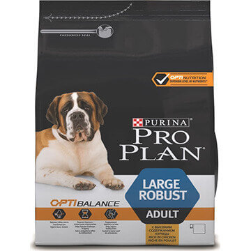 Корм Purina Pro Plan Optibalance для собак крупных пород мощного телосложения (курица)